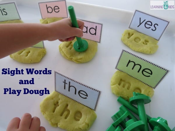 Hands-on fun with sight words, literacy centres or work station sight word activity
