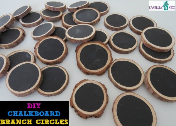 How to make you own chalkboard branch circles - lots of ideas on how to use them too.