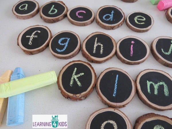 Lots of simple and fun ideas & activities for kids using chalkboard branch circles