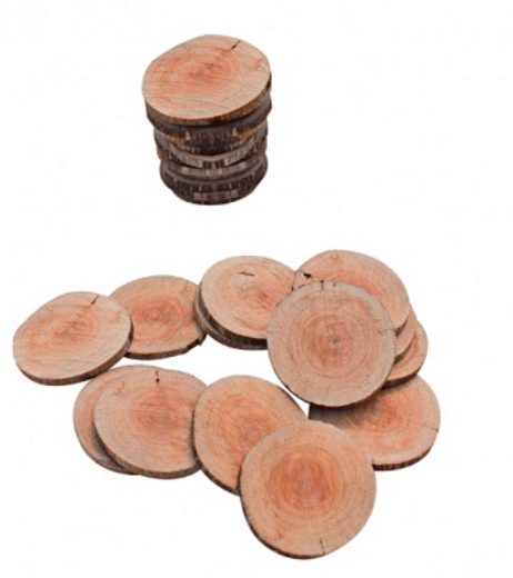 Natural Wooden Tree Cookies Set 30
