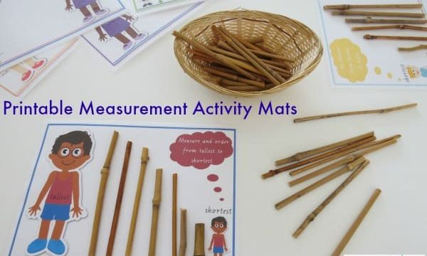Printable Measurement Activity Mats - measuring length tallest to shortest