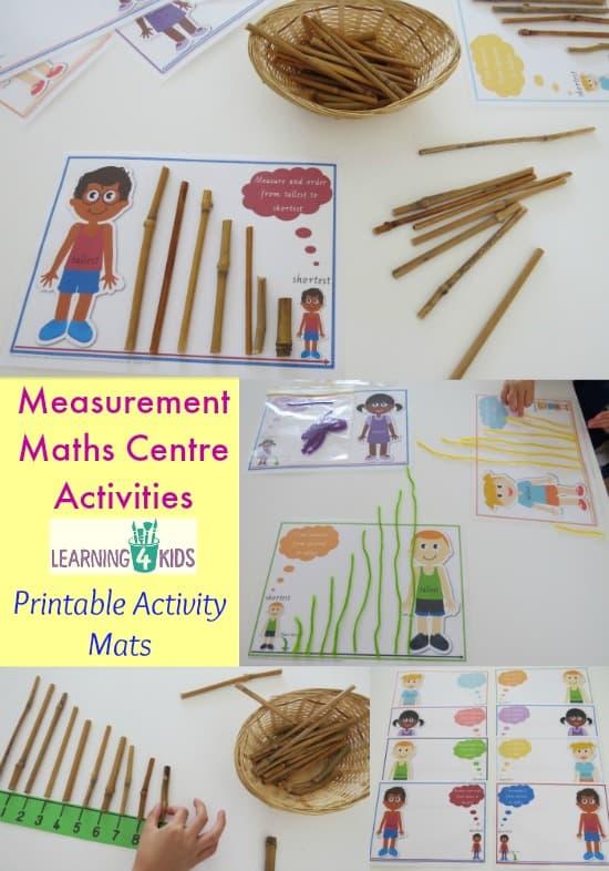 measurement maths centre activities learning 4 kids. Black Bedroom Furniture Sets. Home Design Ideas