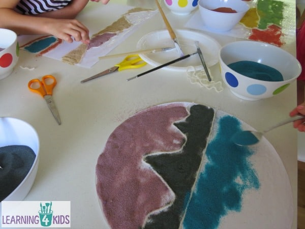 The Magic Beach by Alison Lester - sand art inspired activity