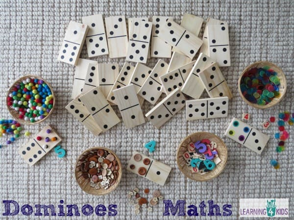 Using dominoes in maths - great manipulative to develop number sense and maths skills