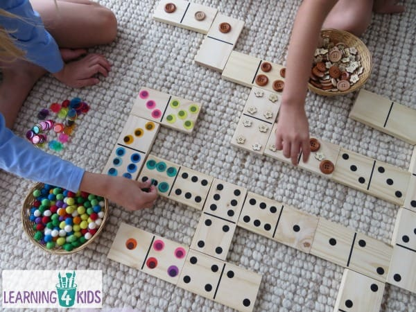 Using dominoes in maths lessons - great manipulative for developing number sense