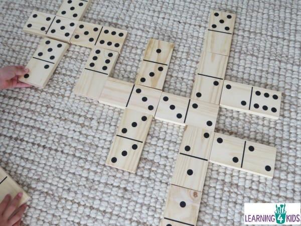 jumbo wooden dominoes