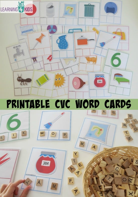 Printable Cvc Words Bundle Activity Pack Learning 4 Kids
