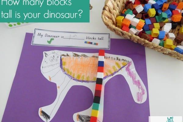 measurement length activity the really big dinosaur learning 4 kids. Black Bedroom Furniture Sets. Home Design Ideas