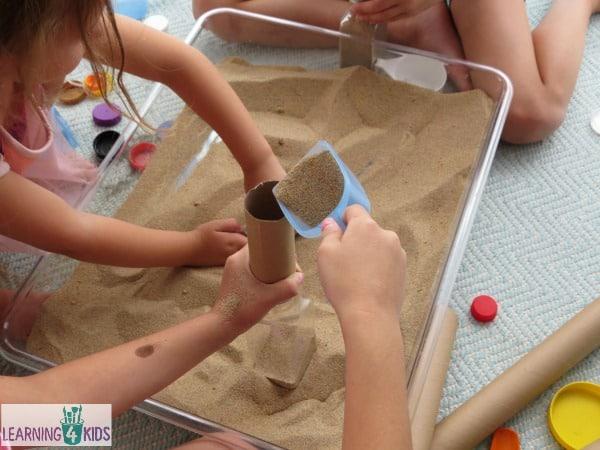 Sensory play with sand