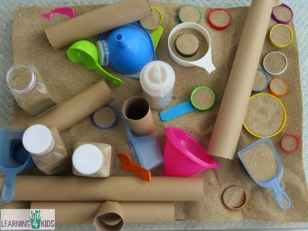 Sensory exploration with sand - some ideas
