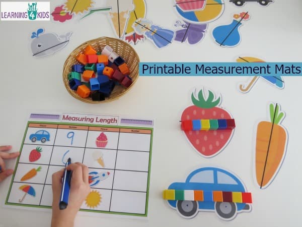 Printable Measurement Mats - great for learning centres and small group work