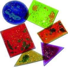 Squidgy Sparkle Shapes Set of 12
