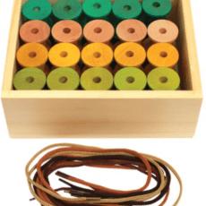 Threading Wooden Reels . 40 Reels