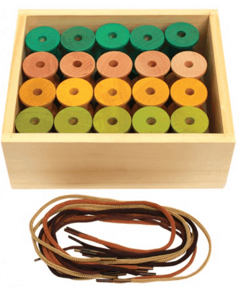 Threading Wooden Reels . 40 Reels