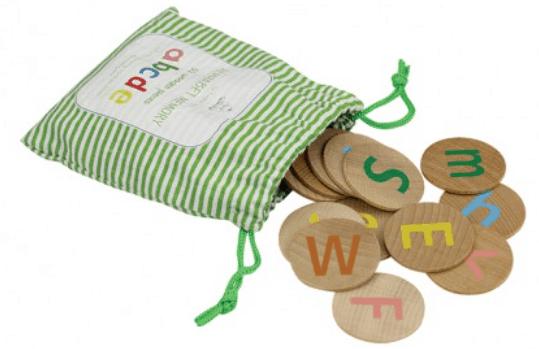 Wooden Alphabet Memory 52 pieces