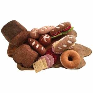 Felt Bread and Sandwich Toppings on Wood Slice 499195