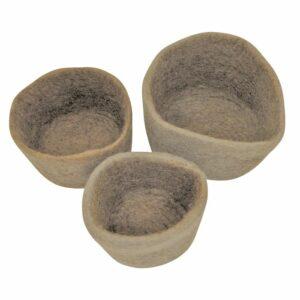 Natural Felt Nested Bowls 427657
