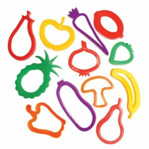 Play Dough Plastic Fruit And Vegetable Cutters 459227
