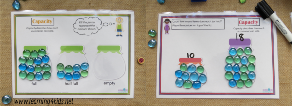 Printable Measurement Capacity Mats 2 Options Available