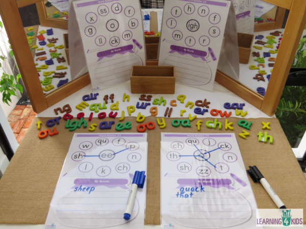printable word builder activity mats phase 3