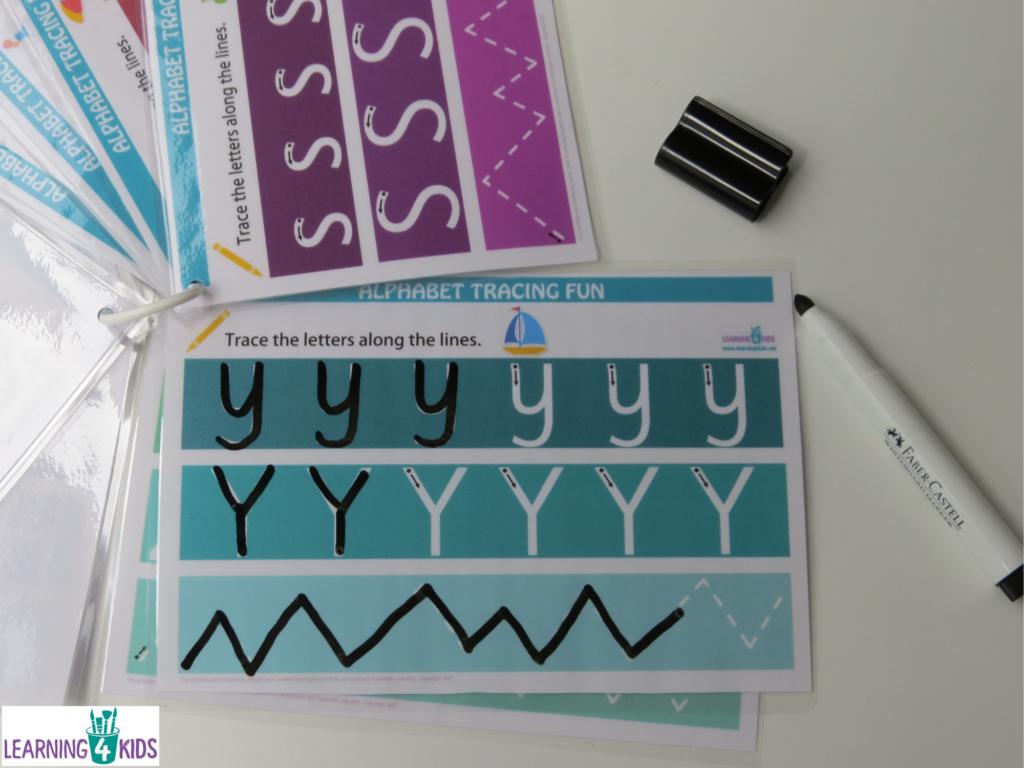 Printable Alphabet Handwriting Mats