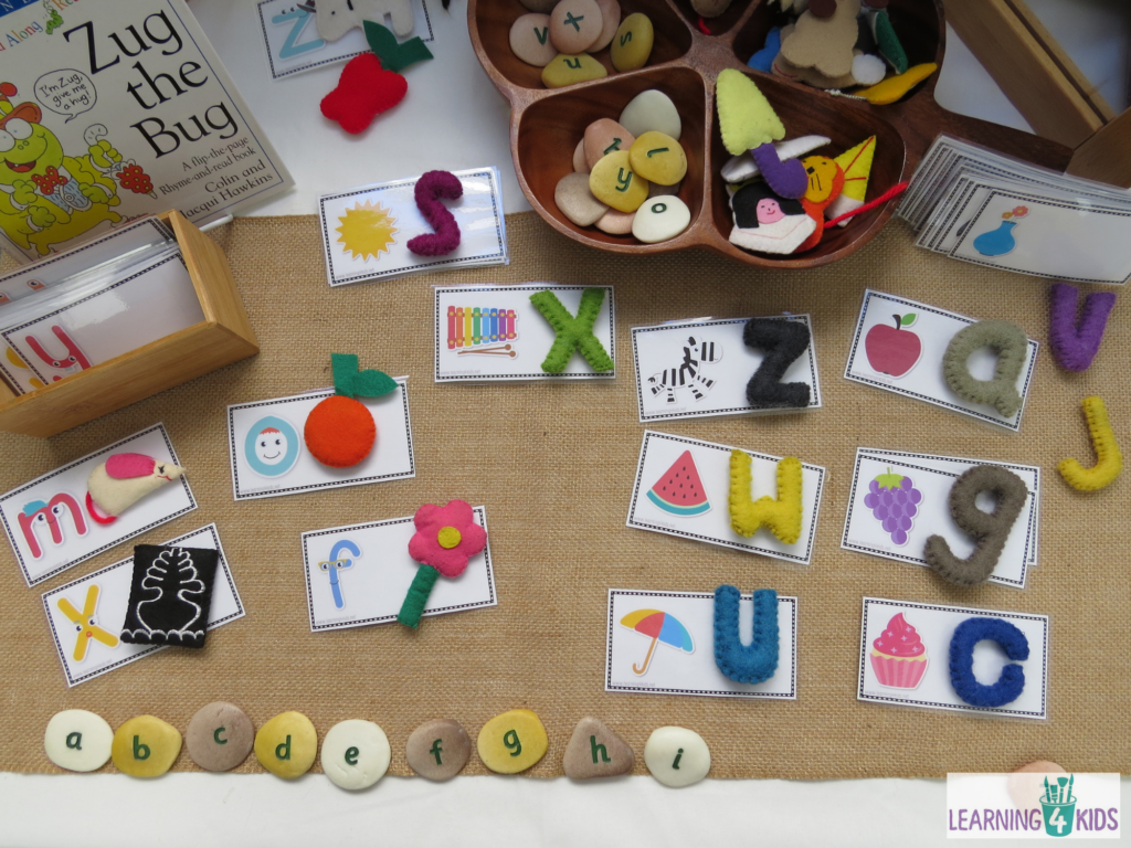 Letters and Sounds Learning Centre matching cards