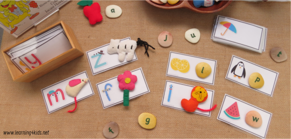 Printable Alphabet Picture and Letter Cards for Matching Activities
