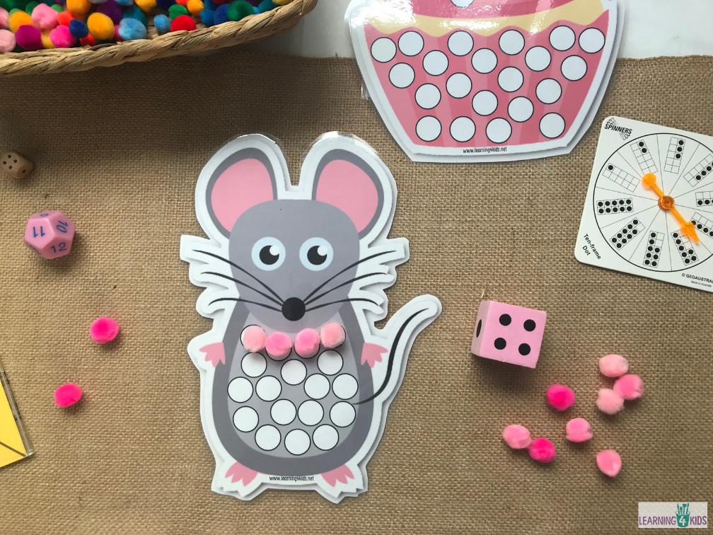 Printable Subitising Subitizing Dot Mats (Mouse)
