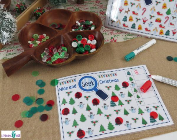 Hide & Seek Christmas Game Mats