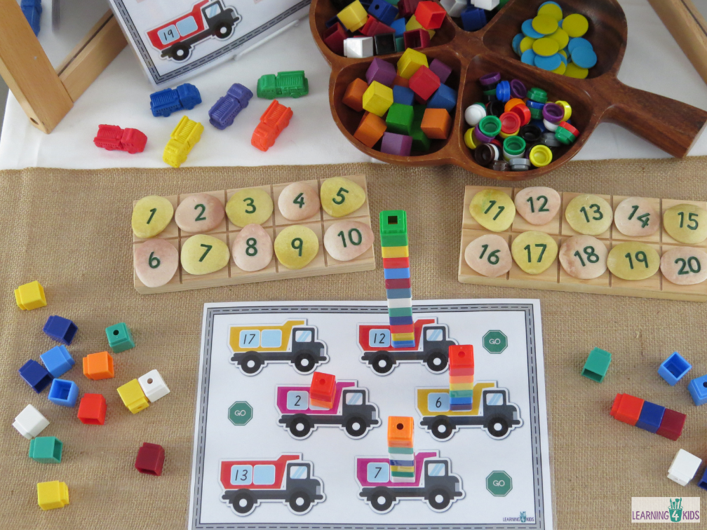Printable Counting Collections Activity Numbers 1-20