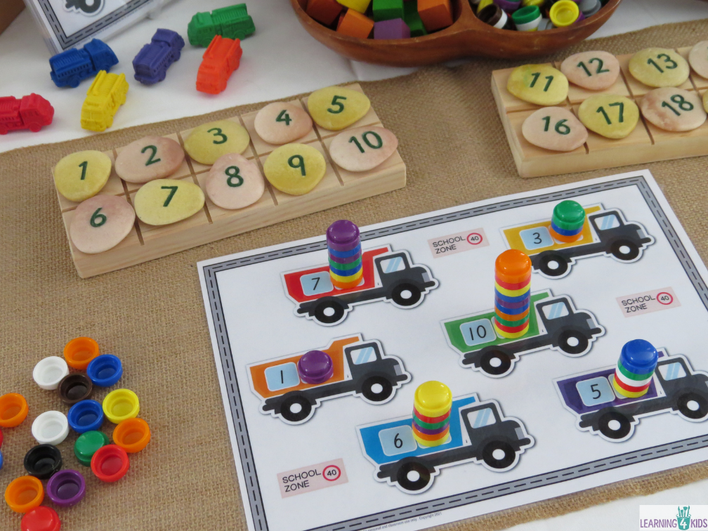 Printable Counting Collections Numbers 1-20 Activity