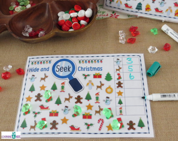 Printable Hide & Seek Christmas Activity 4 Kids