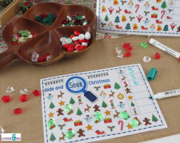 Printable Hide & Seek Christmas Activity for Kids