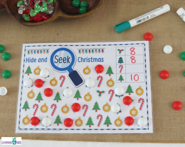 Printable Hide & Seek Christmas Game Mats